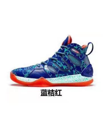艾弗森篮球鞋蓝桔红