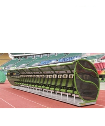 邹城金陵豪华型足球防护棚12100(ZFP-6)
