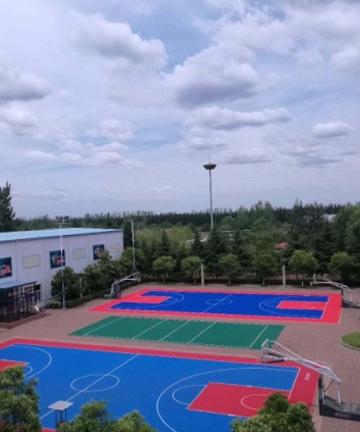济三煤矿室外悬浮地板篮球场项目